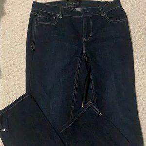 White House Black Market Dark Noir Sz8 Jeans
